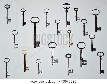Nineteen Antique Keys
