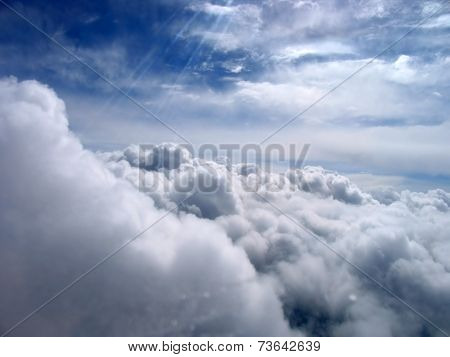 Fabulously Beautiful Clouds In The Sky. View From The Plane.