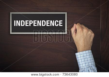 Hand Is Knocking On Independence Door