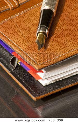 Agenda & fountain pen