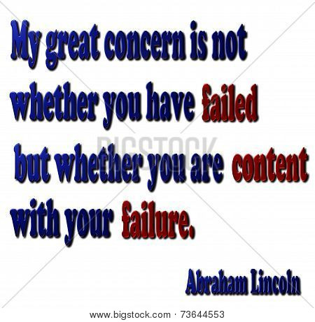 Failure Quote - Abraham Lincoln