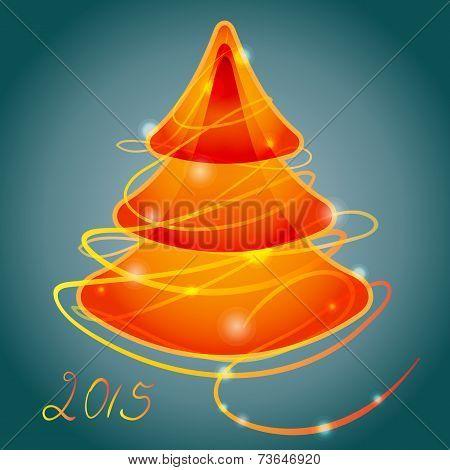 orange luminous christmas tree