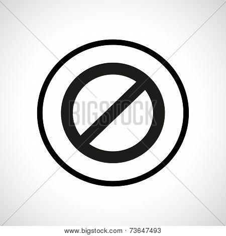 Prohibition symbol