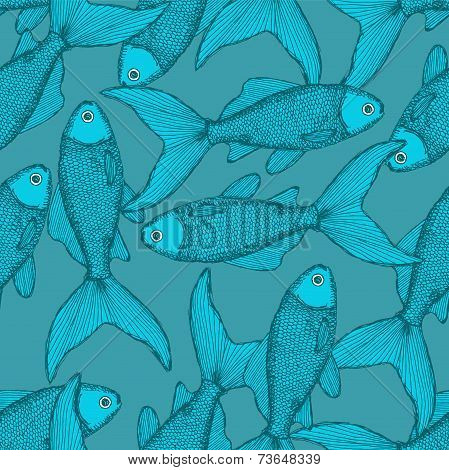 Fish Cute Seamless Pattern