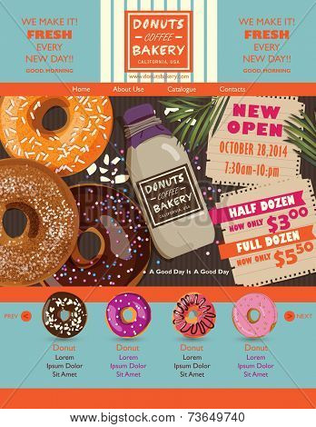 Donuts website design elements
