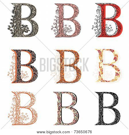 Various Combination Fishnet Letter B.