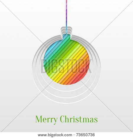 Creative Christmas Ball Greeting Card