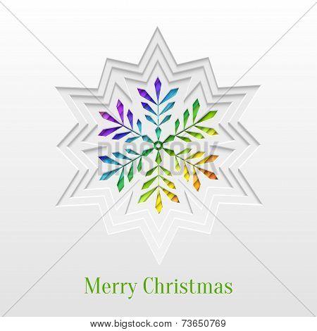 Creative Christmas Snowflake Greeting Card