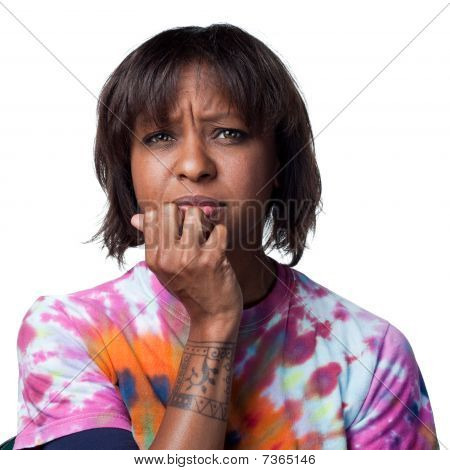 African American Woman Worried