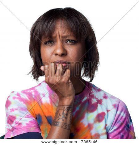 African American Woman Worried