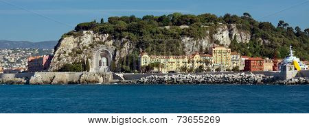City Of Nice - Architecture Along Promenade Des Anglais From Mediterranean Sea