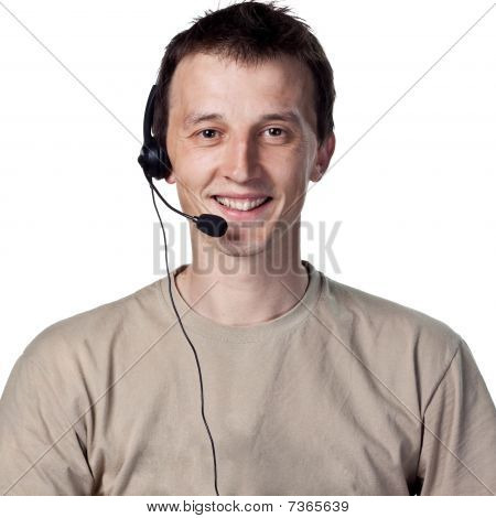Young Callcenter Worker