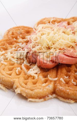 Waffle With Sauce