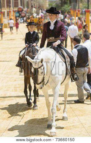 Amazon On Horseback At The Jerez Fair
