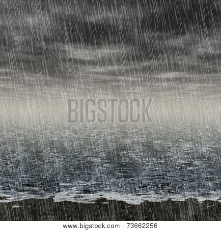 Abstract Rainy Landscape Generated Hires Background