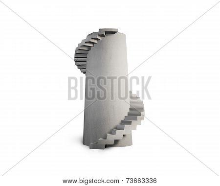 Concrete Spiral Staircase Tower