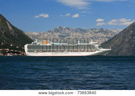 Beautiful White Passenger Ship