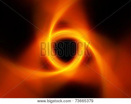 Glowing Fire Spiral Tornado