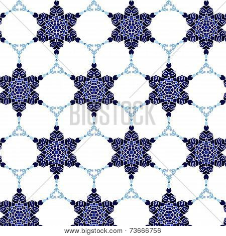 Lace floral colorful ethnic ornament pattern