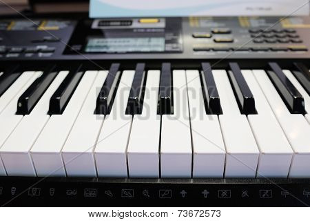 image of synthesizer  under the white background