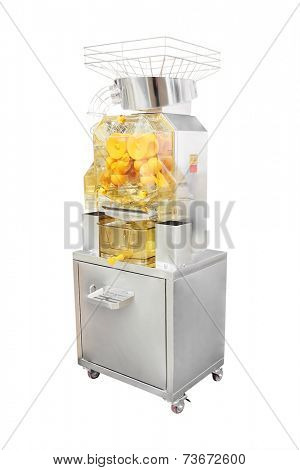 juice extractor for a citrus with the stand under the white background
