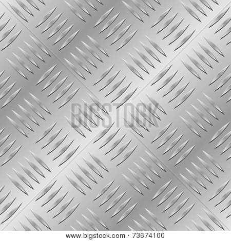 Diamond metal plate seamless pattern.