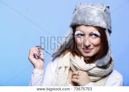 Winter Fashion Woman Warm Clothing Creative Makeup