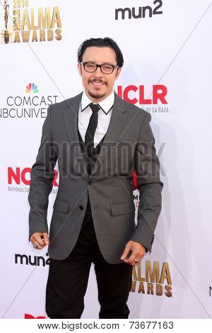 LOS ANGELES - OCT 10:  Efren Ramirez at the 2014 NCLR ALMA Awards Arrivals at Civic Auditorium on October 10, 2014 in Pasadena, CA