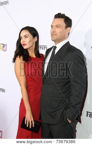 LOS ANGELES - OCT 11:  Megan Fox, Brian Austin Green at the Ferrari Celebrates 60 Years In America  at Wallis Annenberg Center for Performing Arts on October 11, 2014 in Beverly Hills, CA