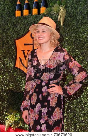 LOS ANGELES - OCT 11:  Alison Pill at the Fifth-Annual Veuve Clicquot Polo Classic at Will Rogers State Historic Park on October 11, 2014 in Pacific Palisades, CA