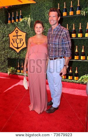 LOS ANGELES - OCT 11:  Marika Dominczyk, Scott Foley at the Fifth-Annual Veuve Clicquot Polo Classic at Will Rogers State Historic Park on October 11, 2014 in Pacific Palisades, CA