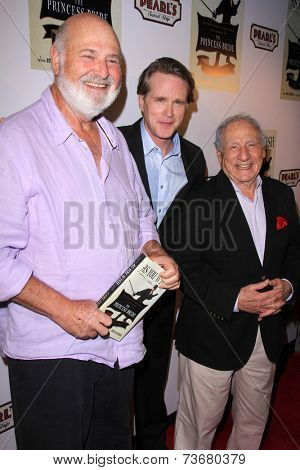 LOS ANGELES - OCT 6:  Rob Reiner, Cary Elwes, Mel Brooks at the