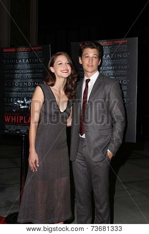 LOS ANGELES - OCT 6:  Melissa Benoist, Miles Teller at the