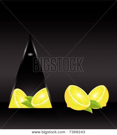 cartão com limão