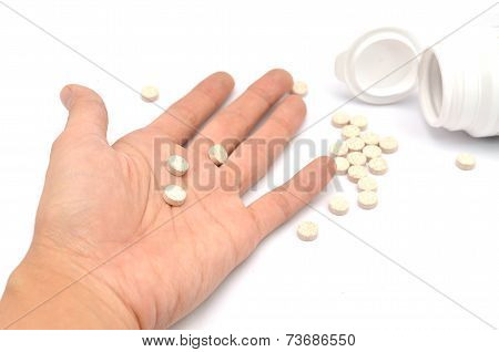 Hand's Taking Pills To Commit Suicide