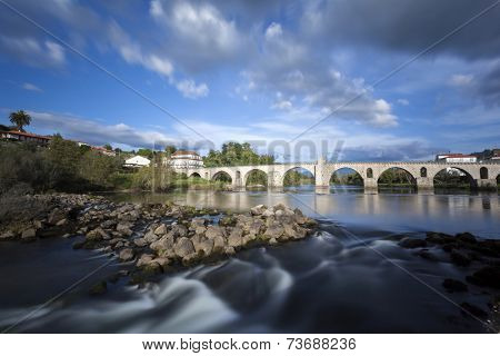 Bridge of Ponte da Barca, Portugal, long exposure