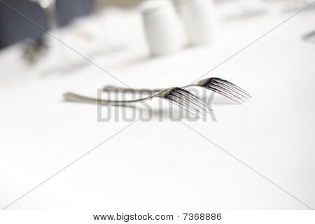 Forks At A Table Setting
