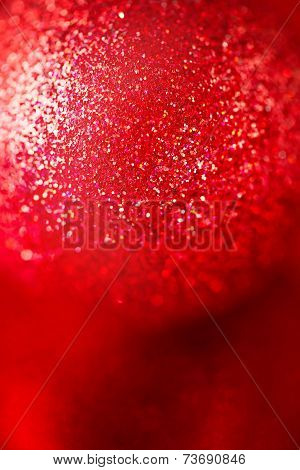 Abstract Christmas Card With Red Sparkles