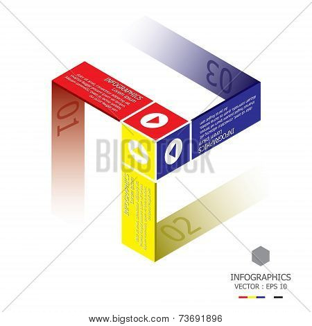Modern Three Dimension Cube Business Infographic
