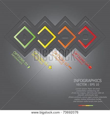 Modern Overlap Square Business Infogaphic