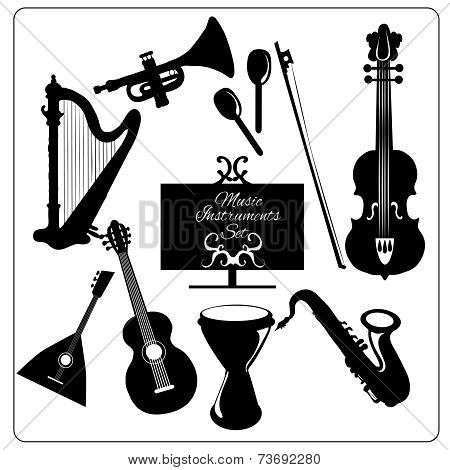 Music instruments black