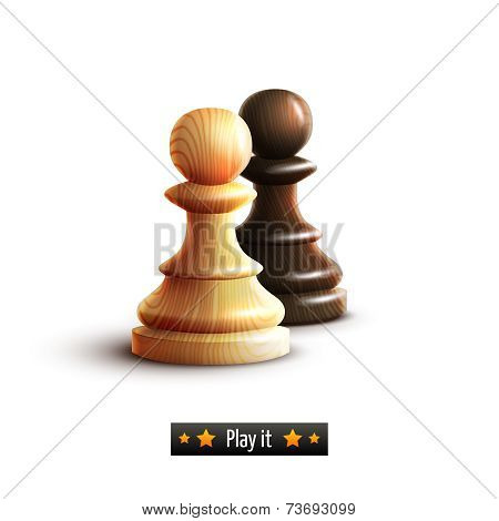 Chess pawns isolated