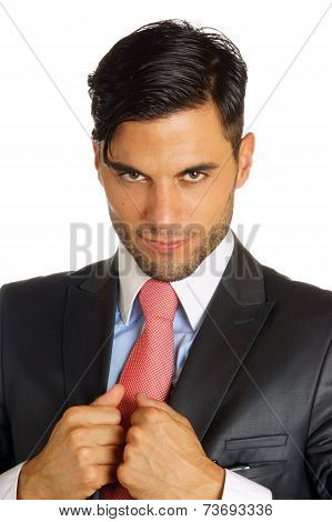 Businessman Over White