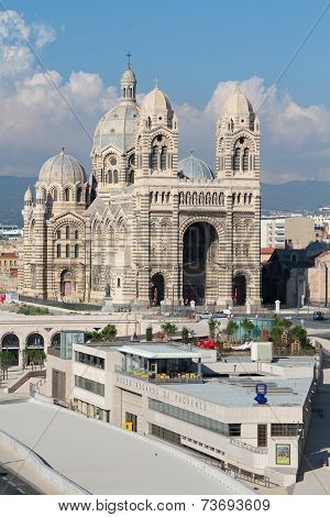 Marseille, France, October 2, 2014 : Marseille Cathedral, Named Cathédrale Sainte-marie-majeure Or
