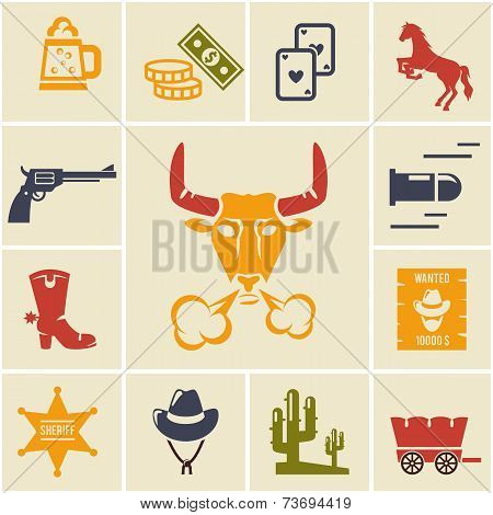 Assortment of Wild West Icons