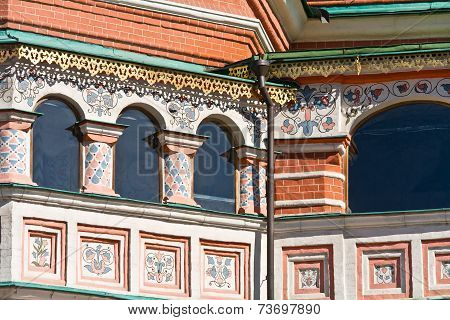 Temple Of Vasiliy Beatific. Windows On A Gallery