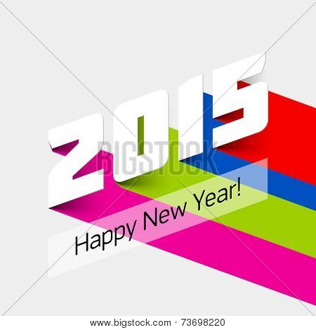 Happy new year 2015 card. Vector illustration.