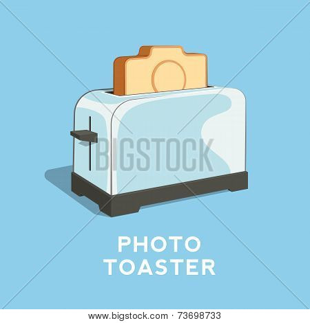Photo Toaster Abstract Vector Illustration