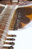 image of string instrument  - Sitar a string Traditional Indian musical instrument close-up