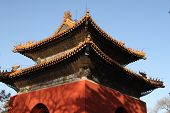 foto of zedong  - Chinese pavilion under clear blue sky in winter time - JPG